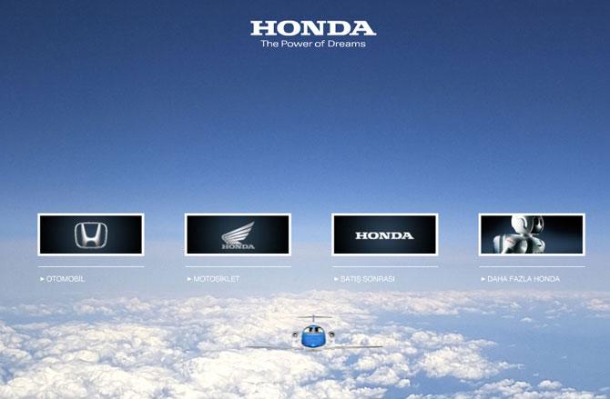 Honda Yeni Web Sitesi